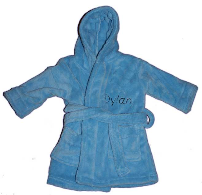 Hooded Blue Dressing Gown - Horizon Designs