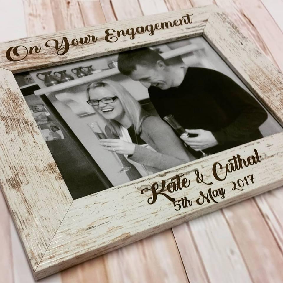 Personalised Wedding/Engagement Frame - Horizon Designs